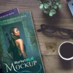 موکاپ 2 جلدی شگفت انگیز – پروژه لایه باز   جلد کتاب