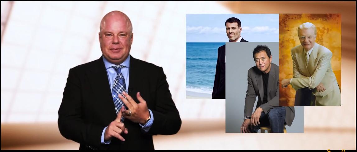 آنتونی رابینز، رابرت کیوساکی، باب پراکتور و اریک وور در ویدیو قدرت بازاریابی شبکه ای
